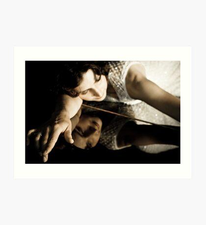 Portrait of a singer 03 Art Print
