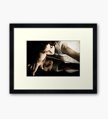 Portrait of a singer 03 Framed Print
