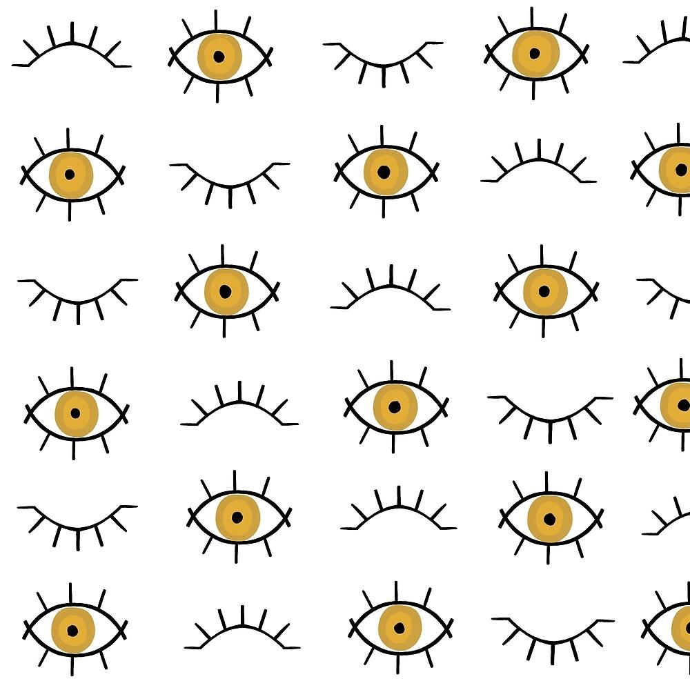 Golden Eye Pattern by KaitVanArt