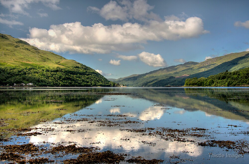 Clouds over Loch Long by Thistle Images