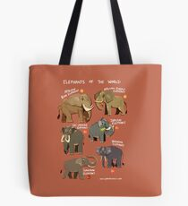 Elephants of the World Tote Bag