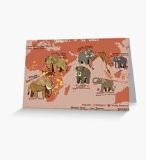 Elephants of the World Greeting Card