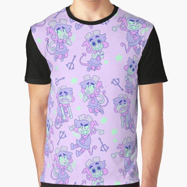[SOCKS PLUS - アステチック 69 / たくさん -] pastel Graphic T-Shirt