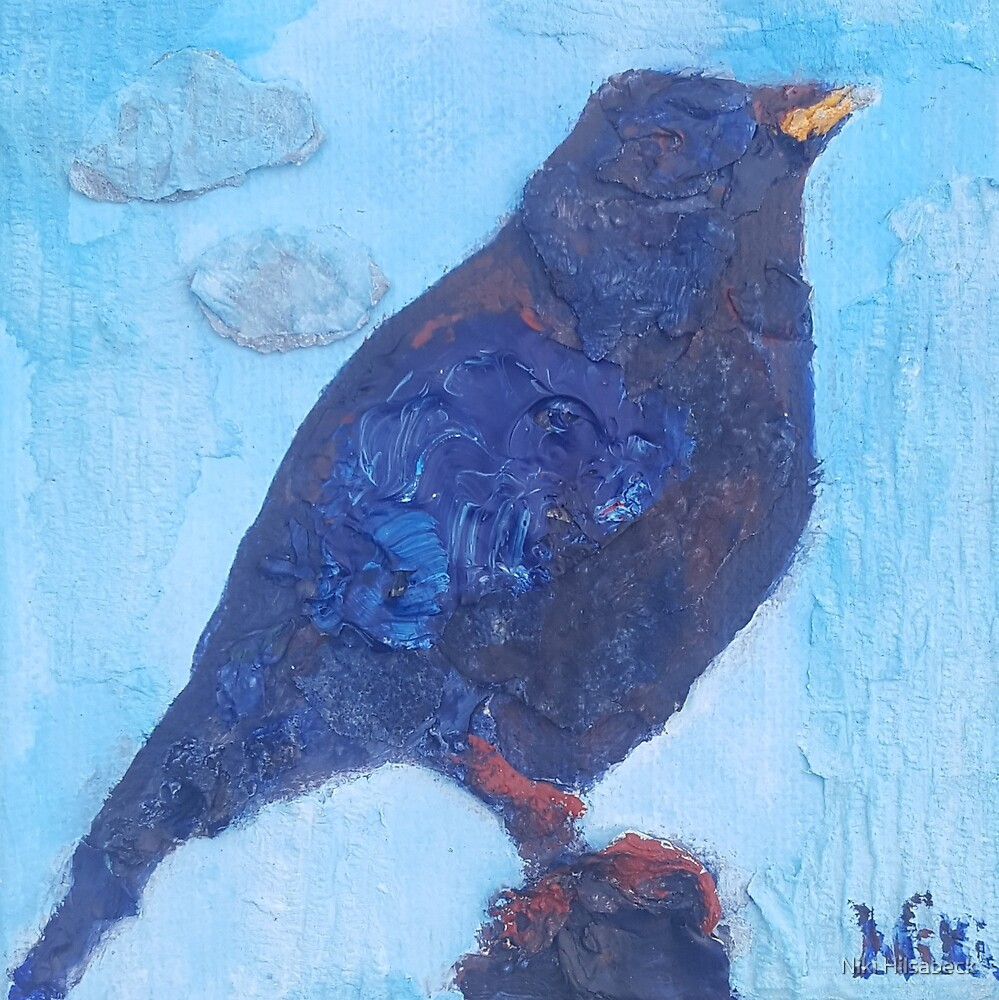 Early Bird (mixed media) by Niki Hilsabeck