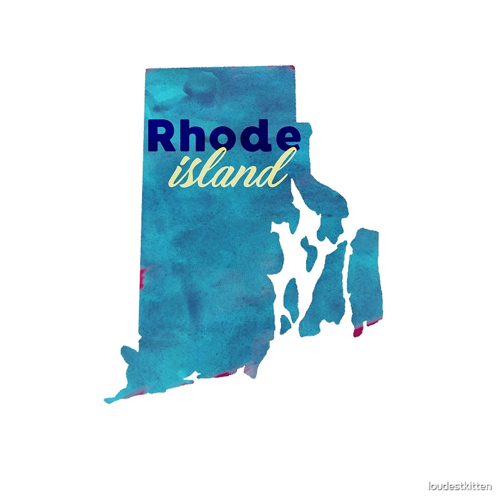 Rhode Island - Watercolor by loudestkitten