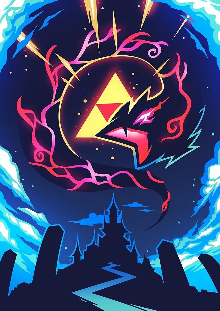 Skizorr - Ganon & Hyrule Castle by Skizorr