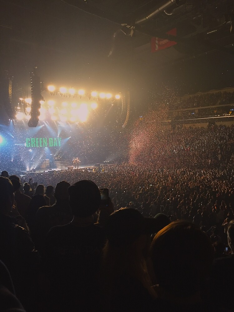 Green Day Concert Crowd by Kathleen Thompson