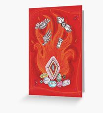 Die by the Fire, Born from the Ashes Greeting Card