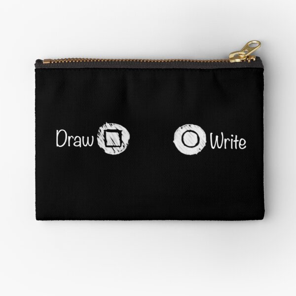 Life Is Strange: Draw vs Write BW Zipper Pouch