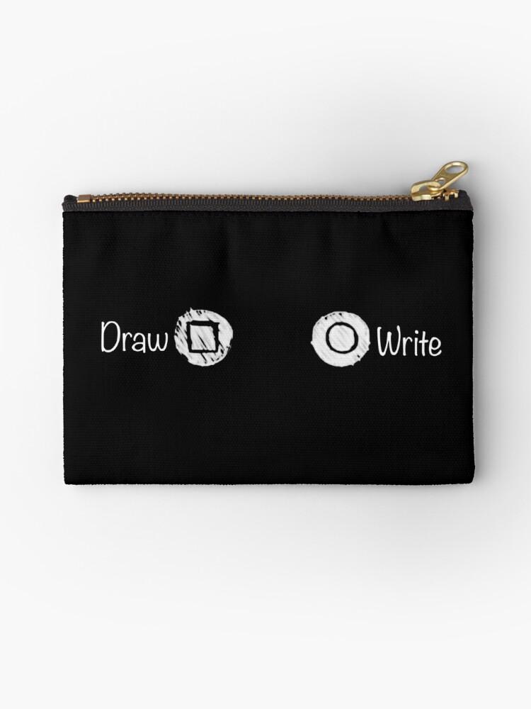Life Is Strange: Draw vs Write BW by GasmaskMood