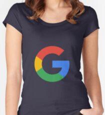 Google Logo Women's Fitted Scoop T-Shirt