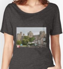 Conwy Castle, Wales, United Kingdom Women's Relaxed Fit T-Shirt