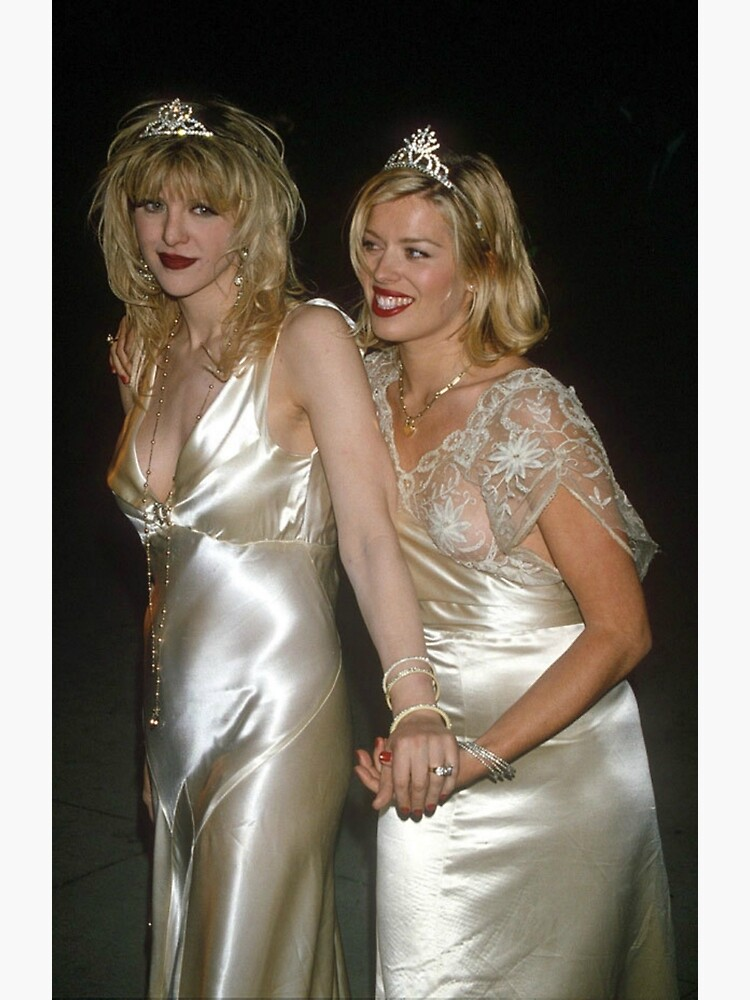 "Courtney Love and Amanda de Cadenet"" Greeting Card by ..."