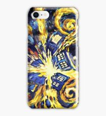 Exploding TARDIS Painting by Van Gogh iPhone Case/Skin