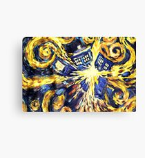 Exploding TARDIS Painting by Van Gogh Canvas Print