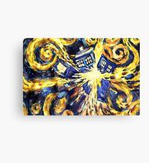 Exploding TARDIS Painting by Van Gogh Canvas Print
