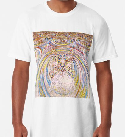 Abstract Cat Long T-Shirt