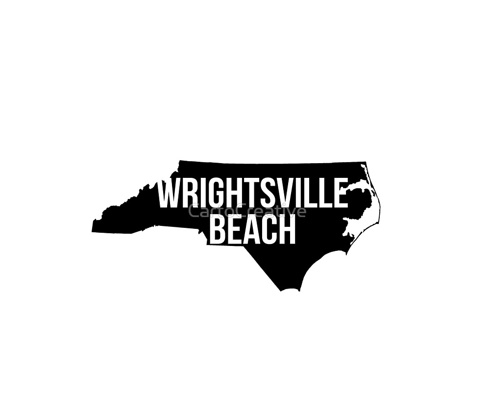 Wrightsville Beach, North Carolina Silhouette by CartoCreative