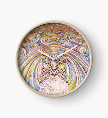 Abstract Cat Clock