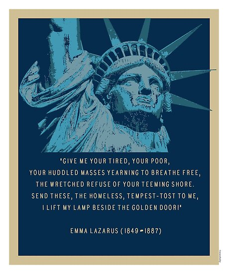Give Me Your Tired Statue Of Liberty Quote Poster By Loveanddefiance