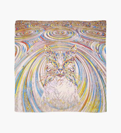 Abstract Cat Scarf