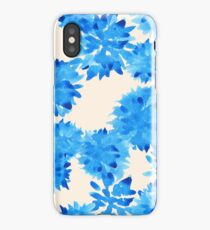 Watercolour blue flowers pattern iPhone Case/Skin