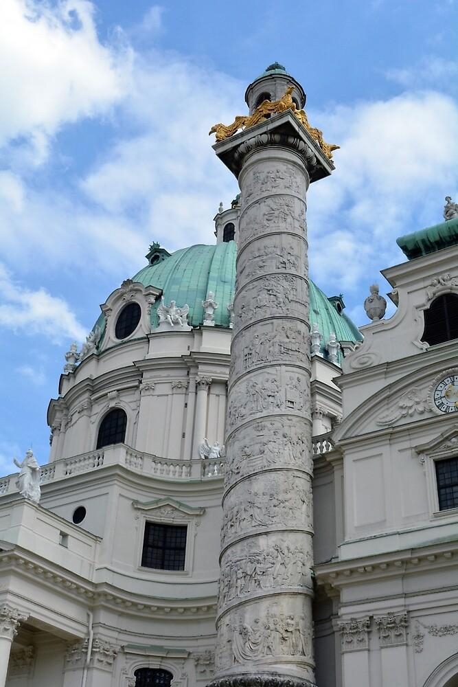 Grand church in Vienna, Austria by oanaunciuleanu