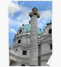 Grand church in Vienna, Austria Poster