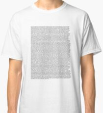 all the lyrics to pillow talking by lil dicky except there's no curses bc my mom checks my texts Classic T-Shirt