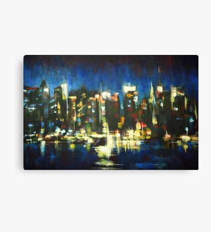 New York Skyline 2008 Canvas Print