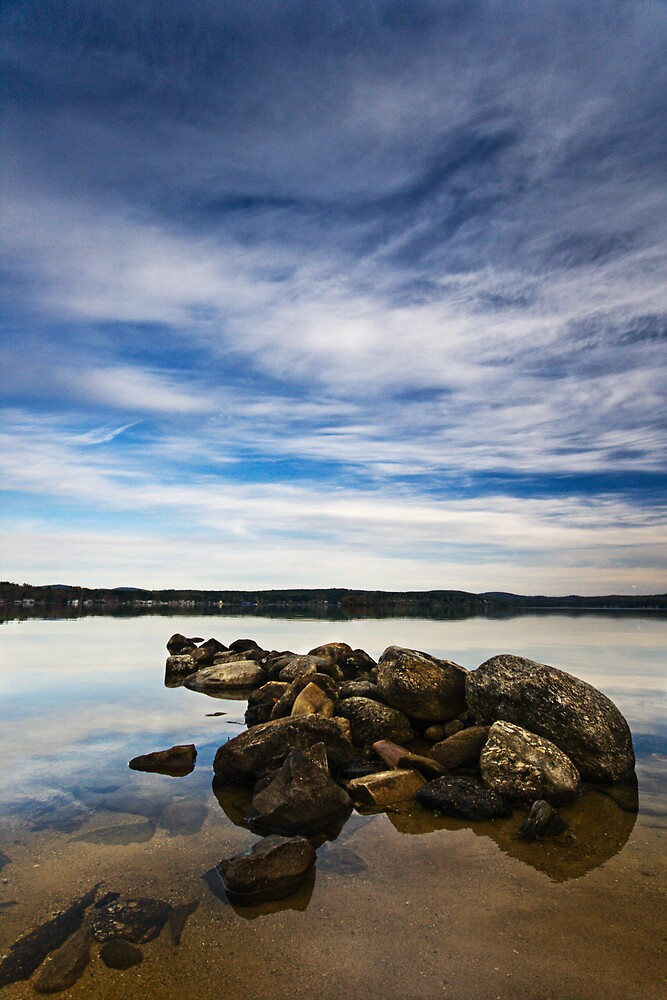 Rocks on Lake Winnipesaukee by Aaron Brown