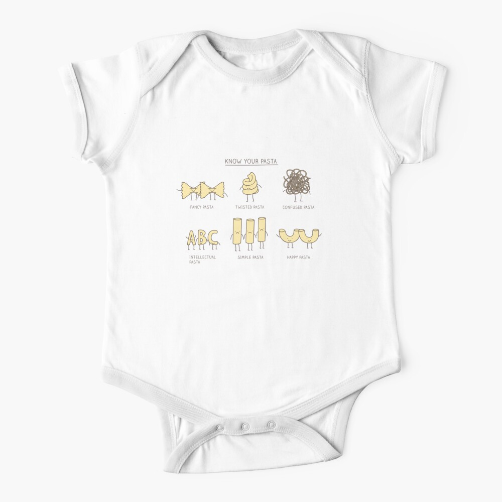 know your pasta Baby One-Piece