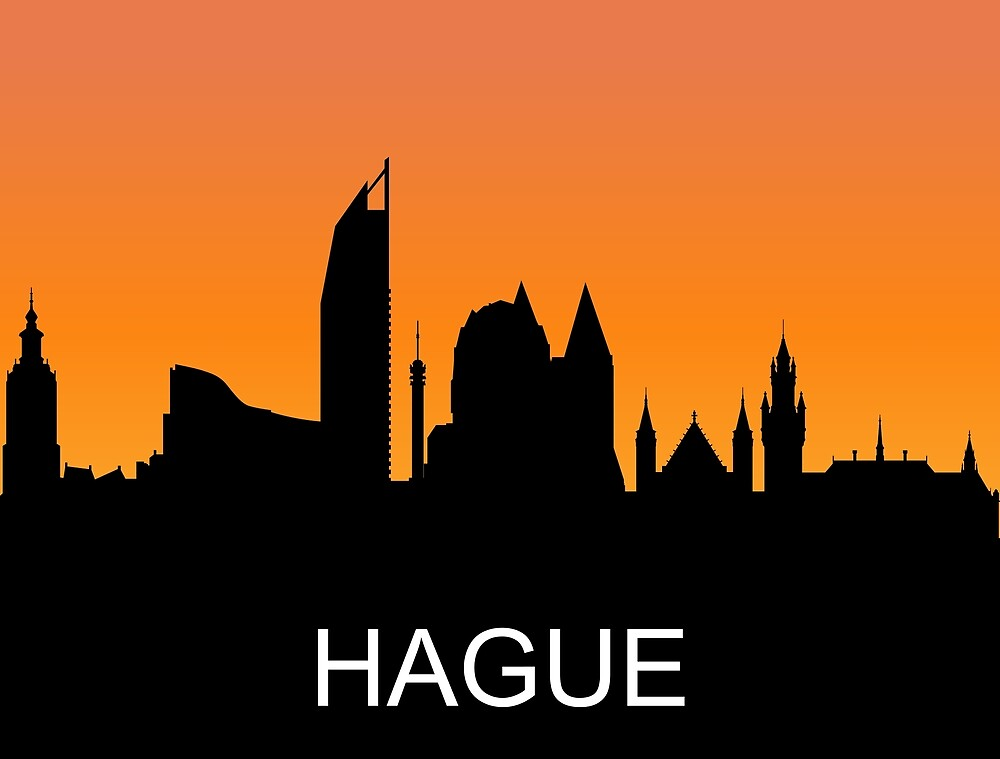 Hague, Netherlands, romantic sunset, travel sticker by AmorOmniaVincit