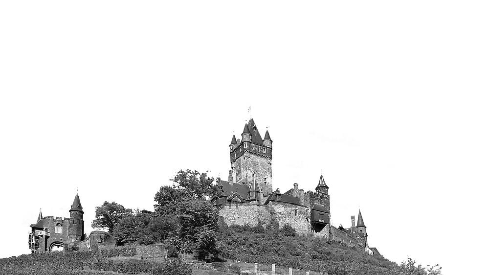 Reichsburg Castle Cochem Germany by FlatLandPrints