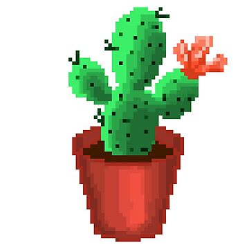 Pixel Cactus by bellissimax