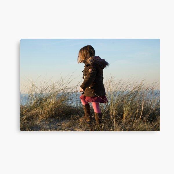 Girl at the beach Canvas Print