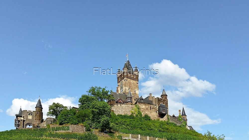 Reichsburg Castle in summer by FlatLandPrints