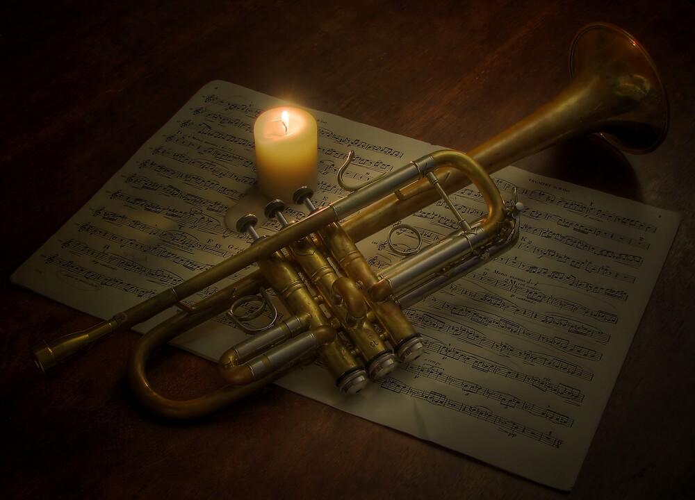 Trumpet by Candlelight by Aaron Brown