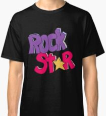 Rock Star - Typography Graphic Classic T-Shirt
