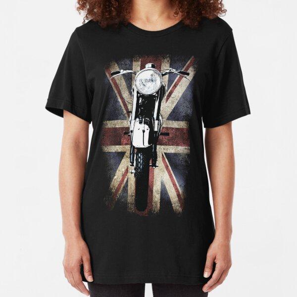 Classic Vintage British BSA Motor Cycle Tee by Patjila Slim Fit T-Shirt