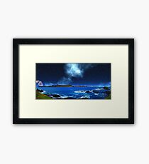 Thoughts of Distant Earth - Collab. Ashley Ng/alienvisitor Framed Print