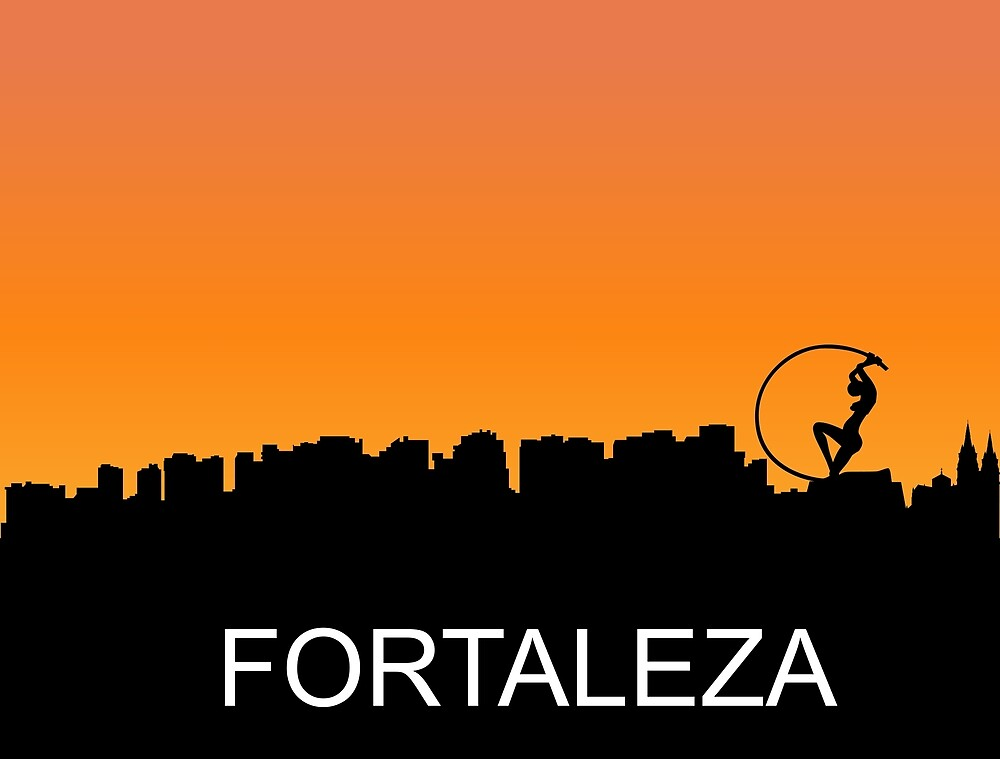 Fortaleza, Brazil, romantic sunset, travel sticker by AmorOmniaVincit