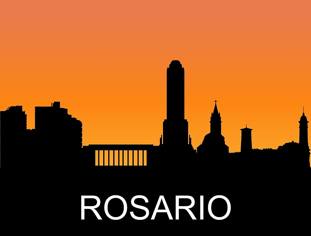 Rosario, Santa Fe, Argentina, romantic sunset, travel sticker by AmorOmniaVincit