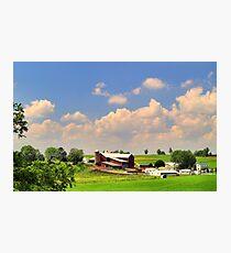 Amish Farm Photographic Print