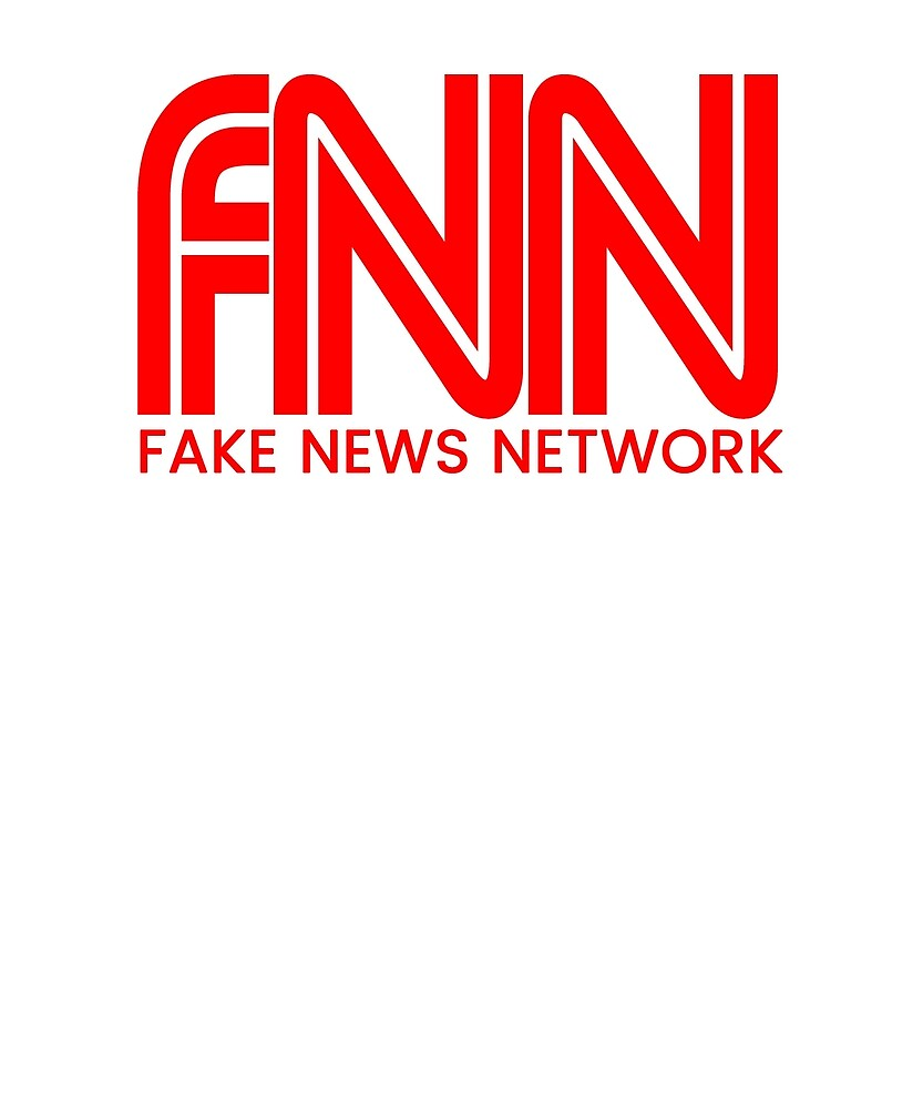 Fake News Network T-Shirt Trump Fake News by kenifeh