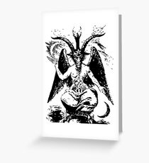Vintage Black Baphomet Greeting Card