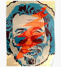 Grateful dead jerry garcia face Poster