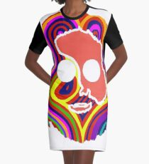 grateful dead jerry garcia face Graphic T-Shirt Dress