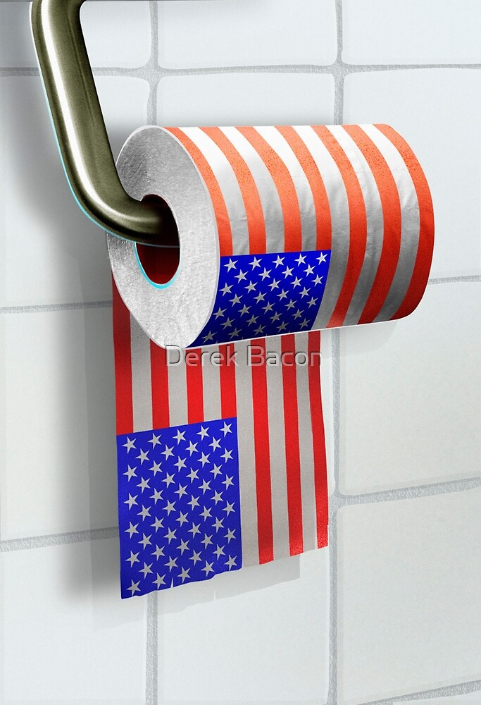 Stars and stripes toilet roll by Derek Bacon