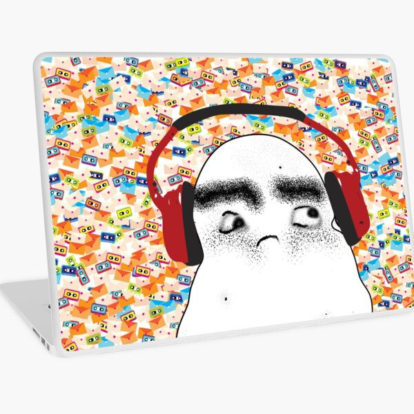 Angry Potato Man Tuning Out Laptop Skin